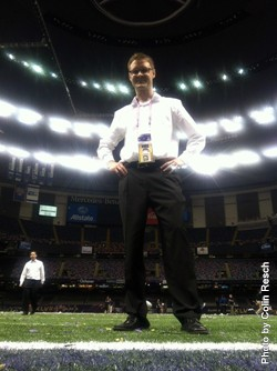 Colin Resch At Superdome Following Super Bowl